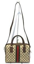Authentic Vintage GUCCI Boston Doctor Shoulder Bag Satchel Purse Handbag 2 Way