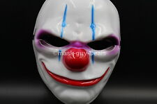 PAYDAY 2 Resin Heist Joker Clown Mask Cosplay Halloween Party Prop Fast shipment