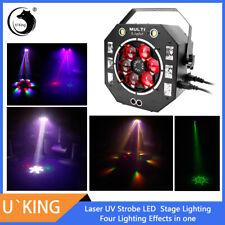120W Strobe UV Laser LEDs 4-Effekte Multifunktion Bühnenlicht DMX DJ Party Show
