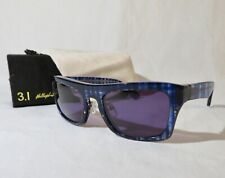 3.1 Phillip Lim Sunglasses IHA Navy Plaid 55-22-140 NEW  w/case