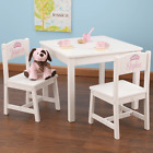 NEW KidKraft Children's Table and 2 Chairs Aspen White Solid Wood Kids 21201