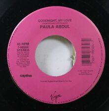 80'S / Soul 45 Paula Abdul - Goodnight, My Love / Will You Marry Me On Virgin