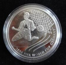 2003 FINE SILVER PROOF CANADA $5 COIN + COA  FOOTBALL WORLD CUP GERMANY