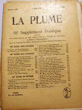 SYMBOLISME/LA PLUME/REVUE/MARS/1904/N°357/MOREAS/VERHAEREN/DE REGNIER.../RARE
