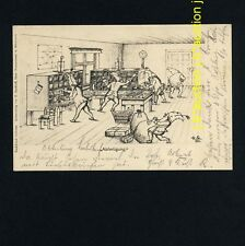 Postwesen ZWERGE BEIM SORTIEREN / DWARFS ASSORTING POST * AK u 1900 H STARKLOFF