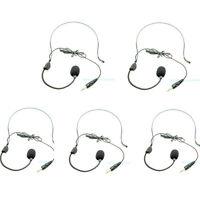 5PCS Aker Voice Amplifier Headset Headworn Head-Mounted Microphone Handfree