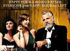 Dos Equis Funny Happy Hour  Beer  Refrigerator / Tool Box Magnet