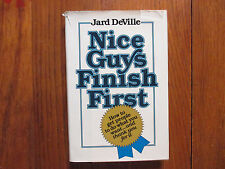 """JARD  DeVILLE  Signed Book(""""NICE GUYS FINISH FIRST""""-1979 First Edition Hardback)"""