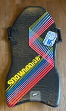 Whamo Snow Boogie Board Sled Foam Mat Vintage Look Yellow Blue Red Stripes New