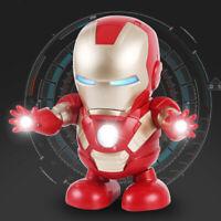 Avenger Iron Man Figure Dancing Music Light Electric Ironman Robot Toys Gifts