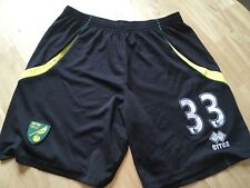 Vintage Norwich City Football Shorts Match Worn 33 Fast Post Rare Canaries Erra