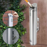 NEW 1.8L Public Places Wall Mounted Ashtray Outdoor Cylinder Cigarette Ash Bin