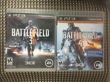 BATTLEFIELD 3 & 4  (Sony PlayStation 3) Lot of 2 w/ Case