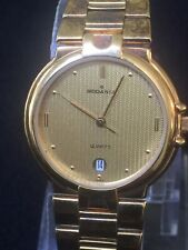 rodania watch men's Watch Quartz Gold Tone,Date,Beautiful design,stainless Steel