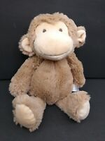 "Carter's TAN Brown MONKEY Plush Stuffed Animal BABY LOVEY 14"" Long 2015"