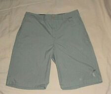 HURLEY Gray Striped Flat Front Casual Walk Shorts Men's Size 30