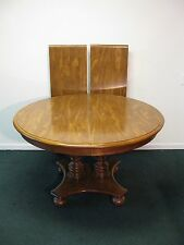 Ethan Allen Heirloom Maple 48 Round Pedestal Dining Table 2 Leaves