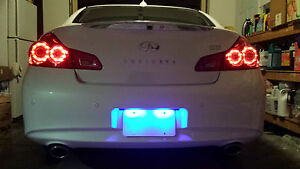 Blue LED License Plate Light Mazda MX-5 Miata 1999-2019