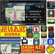 2014 &UP SILVERADO SIERRA KENWOOD GARMIN NAVIGATION APPLE ANDROID AUTO STEREO