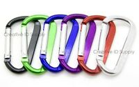 "WHOLESALE LOT 12 24 50 100 PCS ALUMINUM D SHAPED CARABINER BELT CLIP 2.25"" SIZE"