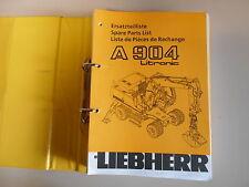 Ersatzteilkatalog Ersatzteilliste Liebherr A 904 Litronic spare parts list