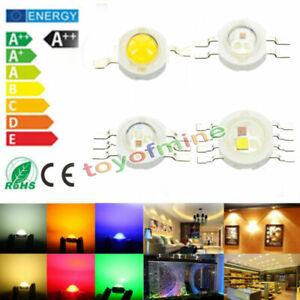 1W 3W 4W 5W 12W  High Power warm white/cool Red Blue RGB RGBW SMD LED CHIP Beads