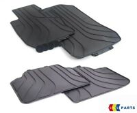 NEW GENUINE BMW 3 SERIES E90 E91 FRONT AND REAR FLOOR BLACK RUBBER MATS PAIR