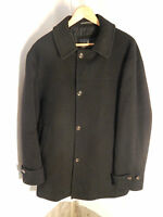 "Men's London Fog 4 Button Black Long/Trench Coat; 33"" Long"