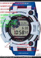 G SHOCK GWF-D1000K-7 FROGMAN SCREEN PROTECTOR X 6 OK GWF-D1000 LOVE THE SEA