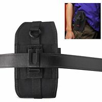 Heavy Duty Canvas Pouch Case Metal Clip Side Holster for Kyocera DuraForce Pro 2