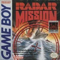 Radar Mission Nintendo Game Boy