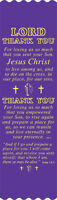 """""""Lord Thank You"""" Easter Bible Bookmark Ribbons, pack of 10 (#5-850)"""
