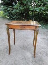 MAGNIFIQUE TABLE A ECRIRE ART NOUVEAU MARQUETERIE 1900 ESTAMPILLEE GEORGES REY