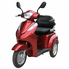 FAST Red Heavy Duty 3 Wheel Mobility Scooter, EWheels EW-38, Up to 15 mph