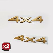 JEEP Grand Cherokee ZJ WJ 4x4 Badge Decal GOLD EMBLEM 2pc. SET
