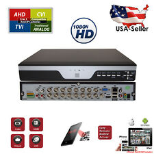 16 Channel H.264 4in1 AHD TVI CVI HDMI Cloud QR Code Surveillance Security DVR
