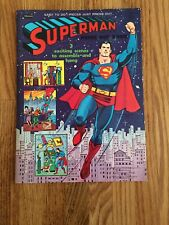 Vintage 1966 Superman Press out Book Unpunched Very Nice Condition. Whitman