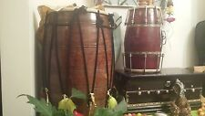 More details for large giant magnificent quality wooden dhol drum instrument great for functions