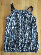 Womens Black/White FOREVER 21 Flowy Sleeveless Double Strap Tank Top Knit- SMALL