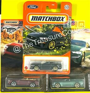 Matchbox - Lot of 3 - FORD MUSTANG - NEW 2021 '18 Black - D133