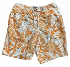 New listing Men's St. Johns Bay Outfitters Swimming Trunks Shorts Water Size L Large Orange