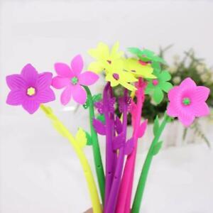10 Pcs/Lot Cute Korean Stationery Flowers Gel Pen Ballpoint Pen Office Supplies