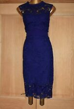 MONSOON ~DAHLIA~ BLUE EMBROIDERED EVENING OCCASION PARTY DRESS SIZE 14 BNWT