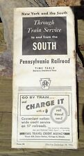 RARE 1956 PENNSYLVANIA RAILROAD TIME TABLE TRAIN SERVICE TO AND FROM THE SOUTH