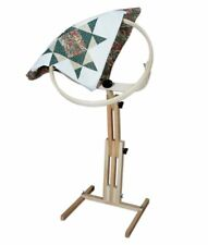 Needlework Floor Stand Quilting Frame Quilters Hoop Adjustable Hand Sewing Tilts