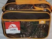 Igloo Lunch Cooler Bag Realtree Camo Hunters Orange Quick Zip Carry Camouflage