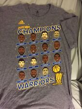 Vintage Golden State Warriors Men's 2015 Champions Cartoon S Brand Adidas