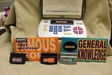 QUIZ WIZ WITH 3 CARTRIDGES & 2 BOOKS PREOWNED IN GC HAS STICKERS ON IT