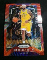 A33 2019-20 PRIZM RED WAVE PRIZM REFRACTOR Demarcus Cousins Los Angeles Lakers