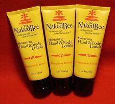The Naked Bee 3-2.25 oz Moisturizing Hand and Body Lotion Pomegranate & Honey